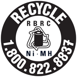 mark for RECYCLE 1.800.822.8837 RBRC NI · MH, trademark #85379700