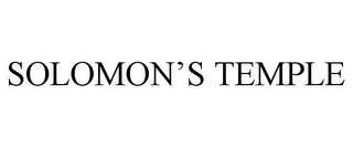 mark for SOLOMON'S TEMPLE, trademark #85379937