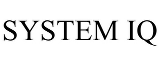 mark for SYSTEM IQ, trademark #85380219