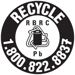 mark for RECYCLE 1.800.822.8837 RBRC PB, trademark #85380354