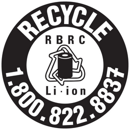 mark for RECYCLE 1.800.822.8837 RBRC LI-ION, trademark #85380368