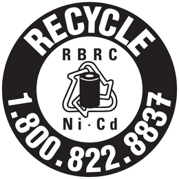 mark for RECYCLE 1.800.822.8837 RBRC NI-CD, trademark #85380386