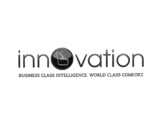 mark for INNOVATION BUSINESS CLASS INTELLIGENCE WORLD CLASS COMFORT, trademark #85380769