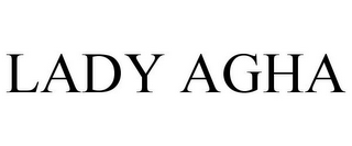 mark for LADY AGHA, trademark #85381235