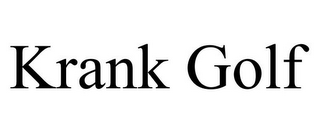 mark for KRANK GOLF, trademark #85381909
