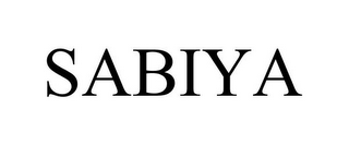 mark for SABIYA, trademark #85385140