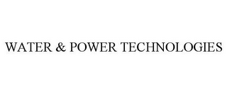 mark for WATER & POWER TECHNOLOGIES, trademark #85385868