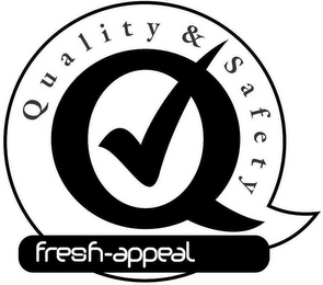 mark for QUALITY & SAFETY FRESH-APPEAL, trademark #85388485