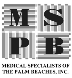 mark for MSPB MEDICAL SPECIALISTS OF THE PALM BEACHES, INC., trademark #85388546