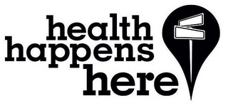 mark for HEALTH HAPPENS HERE, trademark #85390261