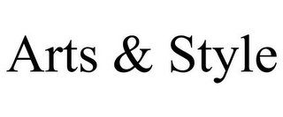 mark for ARTS & STYLE, trademark #85394737