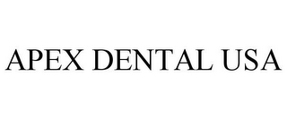mark for APEX DENTAL USA, trademark #85395362