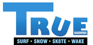 mark for TRUE BOARDWORKS SURF SNOW SKATE WAKE, trademark #85396623