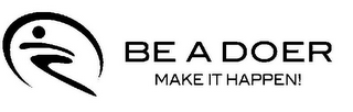 mark for BE A DOER MAKE IT HAPPEN!, trademark #85400573