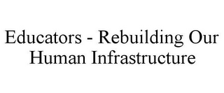 mark for EDUCATORS - REBUILDING OUR HUMAN INFRASTRUCTURE, trademark #85401192