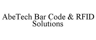 mark for ABETECH BAR CODE & RFID SOLUTIONS, trademark #85403528