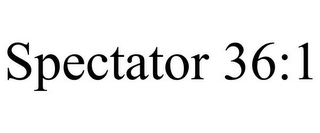 mark for SPECTATOR 36:1, trademark #85404287
