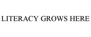 mark for LITERACY GROWS HERE, trademark #85407554