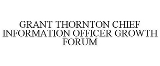 mark for GRANT THORNTON CHIEF INFORMATION OFFICER GROWTH FORUM, trademark #85407730