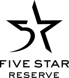 mark for 5 FIVE STAR RESERVE, trademark #85408337