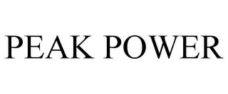 mark for PEAK POWER, trademark #85409231