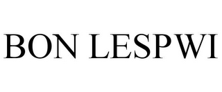 mark for BON LESPWI, trademark #85409986
