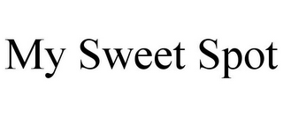mark for MY SWEET SPOT, trademark #85410516