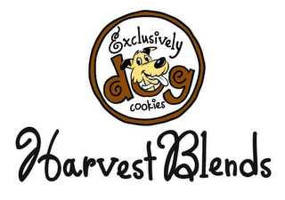 mark for EXCLUSIVELY DOG COOKIES HARVEST BLENDS, trademark #85412958