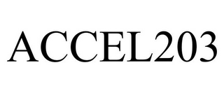 mark for ACCEL203, trademark #85414135