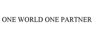 mark for ONE WORLD ONE PARTNER, trademark #85415962