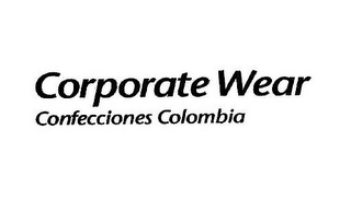 mark for CORPORATE WEAR CONFECCIONES COLOMBIA, trademark #85417695
