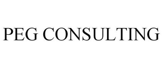 mark for PEG CONSULTING, trademark #85417978