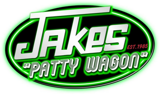 "mark for JAKES ""PATTY WAGON"" EST. 1985, trademark #85418210"