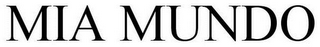 mark for MIA MUNDO, trademark #85420814