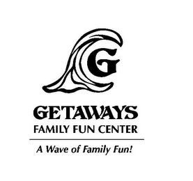mark for GETAWAYS FAMILY FUN CENTER A WAVE OF FAMILY FUN! G, trademark #85423215