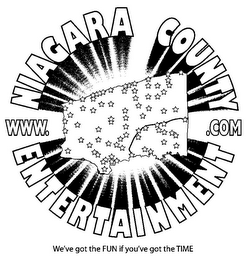 mark for WWW. NIAGARA COUNTY ENTERTAINMENT .COM WE'VE GOT THE FUN IF YOU'VE GOT THE TIME, trademark #85423287