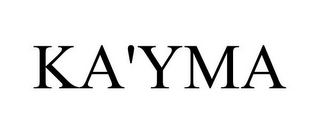 mark for KA'YMA, trademark #85426215