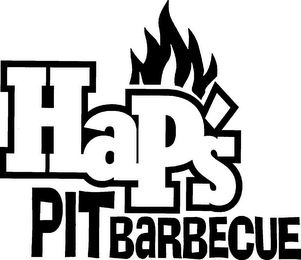 mark for HAP'S PIT BARBECUE, trademark #85427186