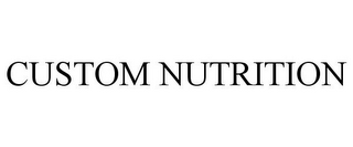mark for CUSTOM NUTRITION, trademark #85427360