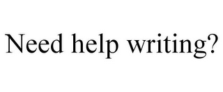 mark for NEED HELP WRITING?, trademark #85427719
