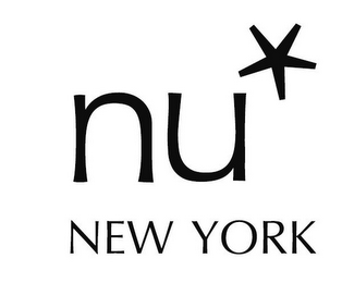 mark for NU* NEW YORK, trademark #85429370