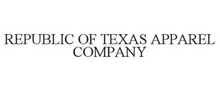 mark for REPUBLIC OF TEXAS APPAREL COMPANY, trademark #85429500