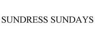 mark for SUNDRESS SUNDAYS, trademark #85430758