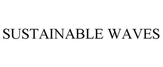 mark for SUSTAINABLE WAVES, trademark #85431469