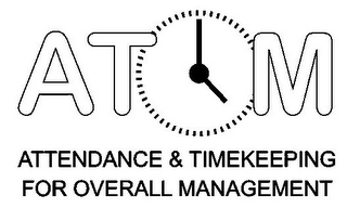 mark for AT M ATTENDANCE & TIMEKEEPING FOR OVERALL MANAGEMENT, trademark #85431983