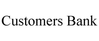 mark for CUSTOMERS BANK, trademark #85433182