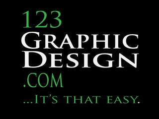 mark for 123GRAPHICDESIGN.COM....IT'S THAT EASY., trademark #85433194
