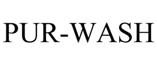 mark for PUR-WASH, trademark #85433300