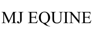 mark for MJ EQUINE, trademark #85434748