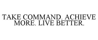 mark for TAKE COMMAND. ACHIEVE MORE. LIVE BETTER., trademark #85435087
